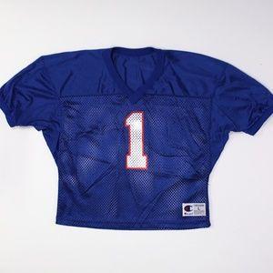 Vintage 90s Champion #1 Football Mesh Crop Jersey